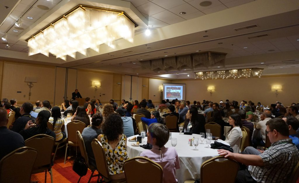 Attendees listen in on the contributions of CEIRS to influenza research and surveillance from the past decade.