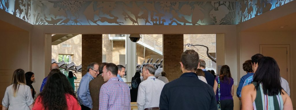CEIRS researchers and affiliates network at the Fernbank Museum following a day of scientific discourse.